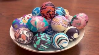 Красим яйца к Пасхе! Просто, быстро и оригинально.