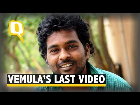 What did Rohith Vemula Say in His Last Video  | The Quint