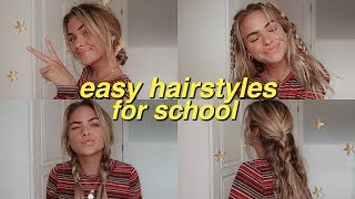 7 easy, heatless hairstyles for school! | Summer Mckeen