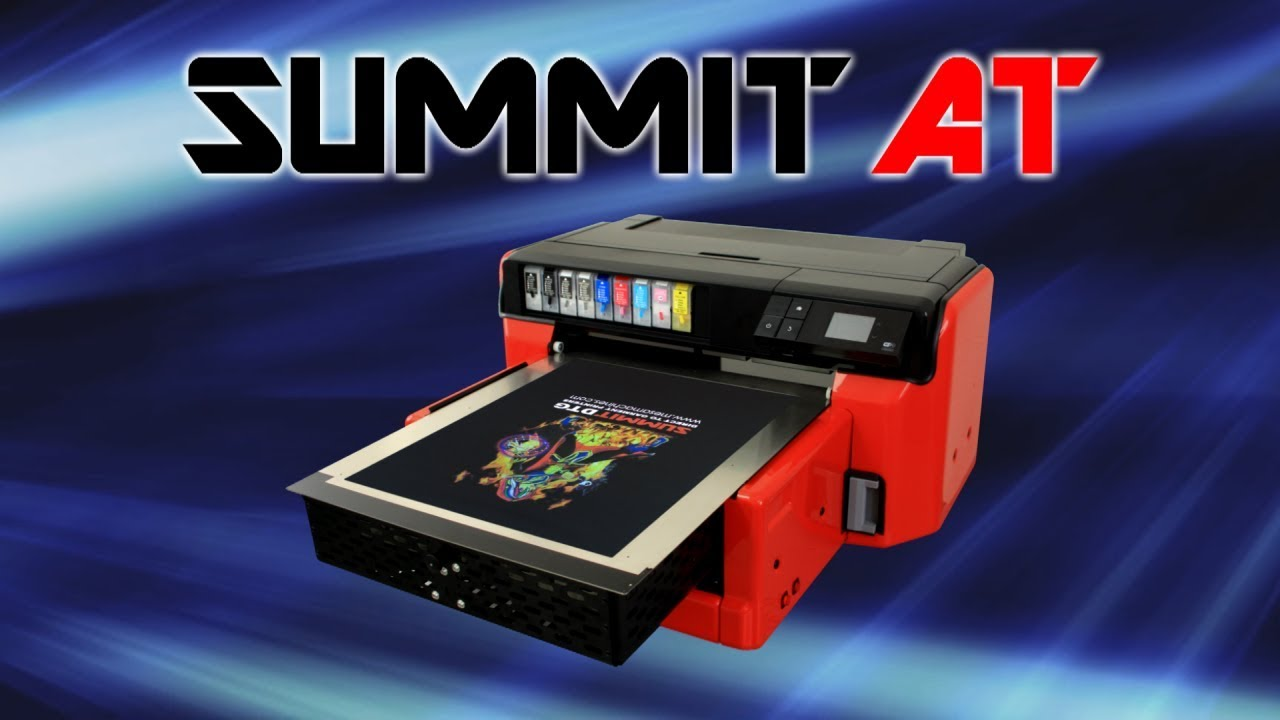 0b49abb3 Summit AT DTG Direct to Garment Printer Demo - YouTube