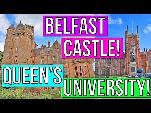 BELFAST CASTLE TOUR!! + QUEEN'S UNIVERSITY GARDENS! BELFAST IRELAND TRAVEL VLOG! CRUISE VLOG 2017!
