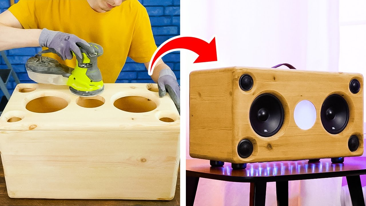 DIY Bluetooth Speaker and Other Wooden Crafts For Your Home and Decor