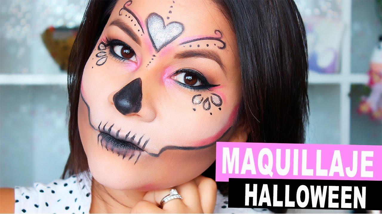 maquillaje fcil y rpido para halloween i da de los muertos youtube - Maquillaje Halloween