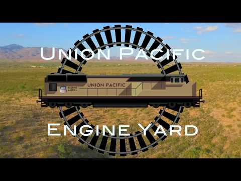 Union Pacific Locomotive storage Arizona