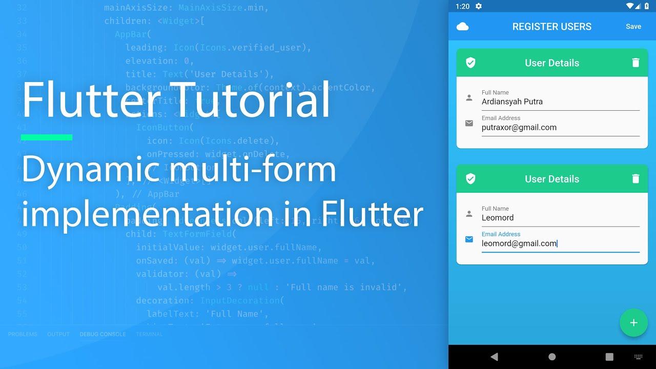 Flutter Dynamic Multi Form Tutorial