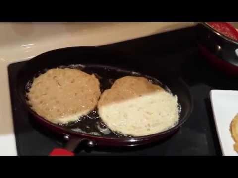 Как приготовить латкес из жёлтого кабачка