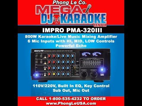 IMPRO PMA-320III 800 Watts Karaoke Vocal Mixing Amplifier