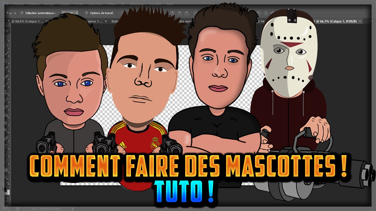 COMMENT FAIRE DES MASCOTTES  TUTO   YouTube