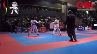 ni putu eka vs hestri kurniasih pada perebutan juara 3 kumite 50 kg putri pon jawa barat