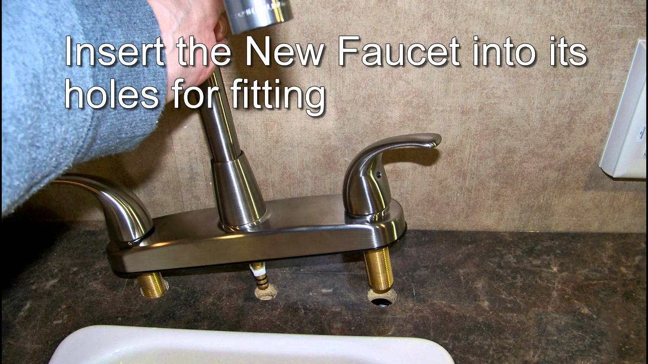 Easy Upgrading To A Better Kitchen Faucet U0026 Sprayer: RV Camper Mods