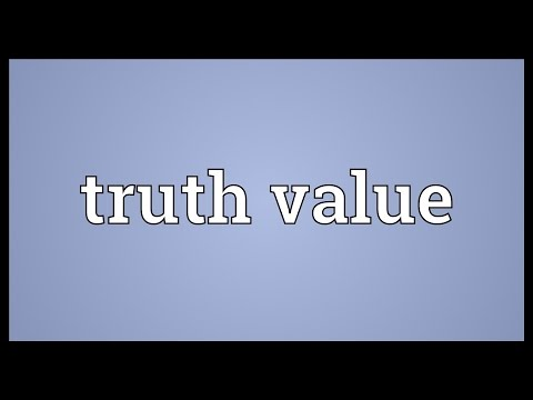 Truth value Meaning