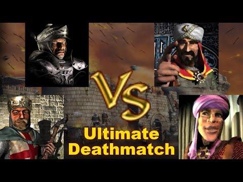Richard, Wolf, Saladin, Emir FFA - Ultimate Deathmatch | Stronghold Crusader AI-Battle