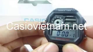 đồng hồ điện tử casio ae 1200wh 1av pin 10 năm