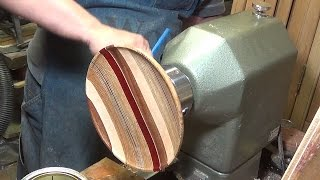 Woodturning a Striped Platter