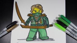 How to draw Ninjago Lloyd the Green Ninja - Lego Speed Draw #31
