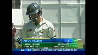 Shoaib Akhtar vs AB de Villiers and Hashim Amla