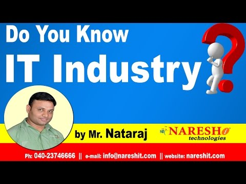 Do You Know IT Industry || by Mr. Nataraj