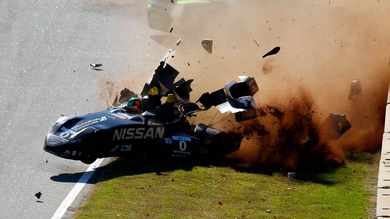 The Hot List  Nissan DeltaWing Mega Crash  YouTube