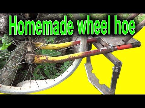 wheel hand hoe. Garden wheel hoe
