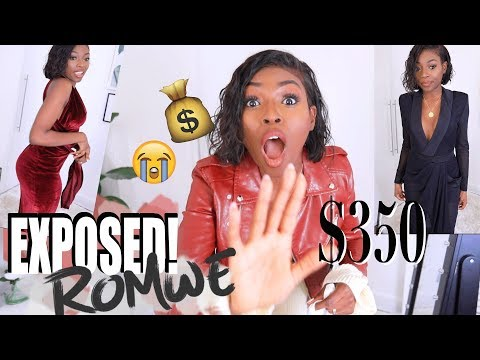 I SPENT $375 ON ROMWE - AND NOW THEY HAVE BEEN EXPOSED, MY C