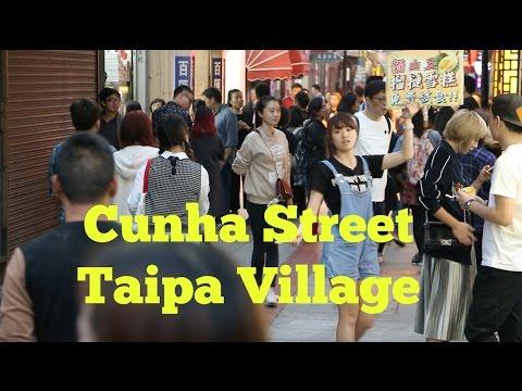 [HD] Walking in Macau's Cunha Street and Taipa Village Part 1