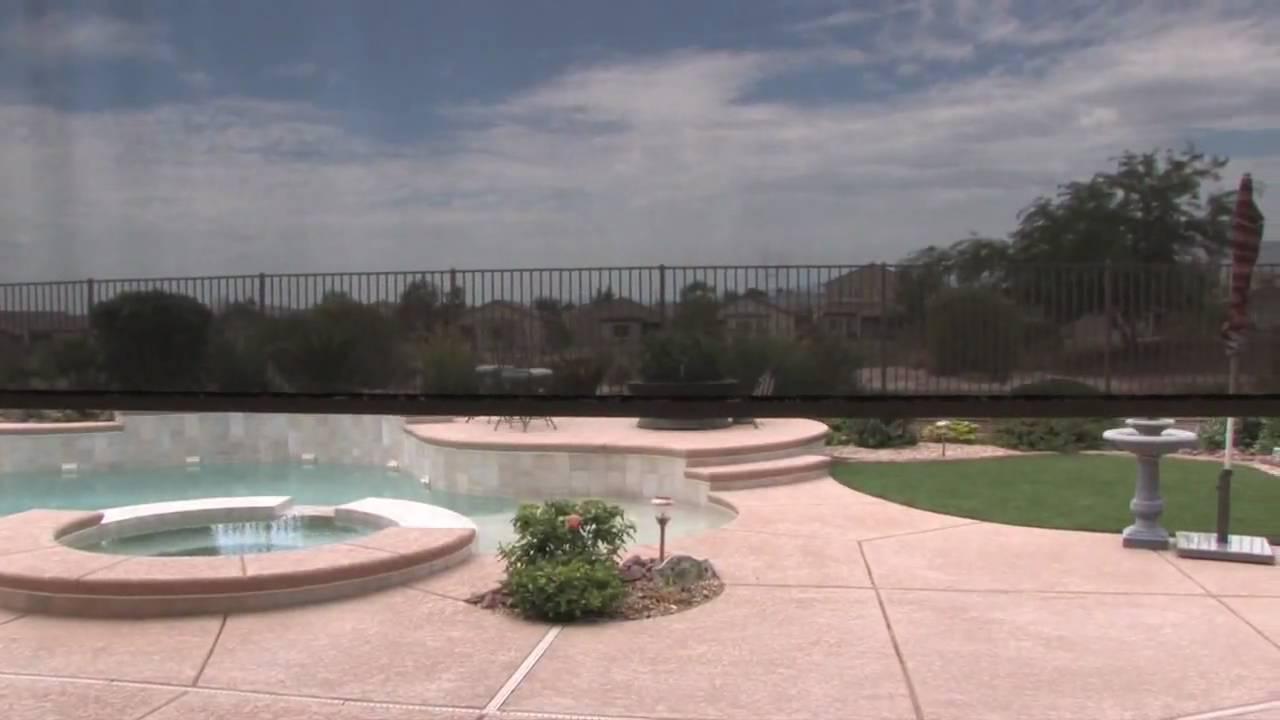 Patio Drop Shades Las Vegas Motorized Solar Control Pamu0027s House