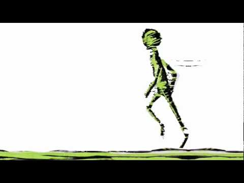 woodcut animation - human walk cycle
