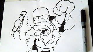 как рисовать Гомер Симпсон |  граффити(Рисование Гомер Симпсон граффити музыка (Audiomicro.com) Straight Edge., 2014-10-21T03:01:24.000Z)