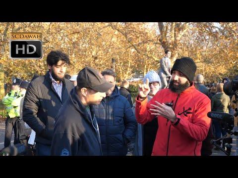 P2 - Going Ape on Evolution!? Suboor Vs Phil (Atheist)   Speakers Corner   Hyde Park