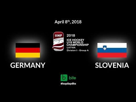 Germany - Slovenia, Ice Hockey U18 World Championship, 2018