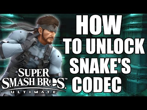 HOW TO UNLOCK Snake Codec Conversations In Super Smash Bros. Ultimate