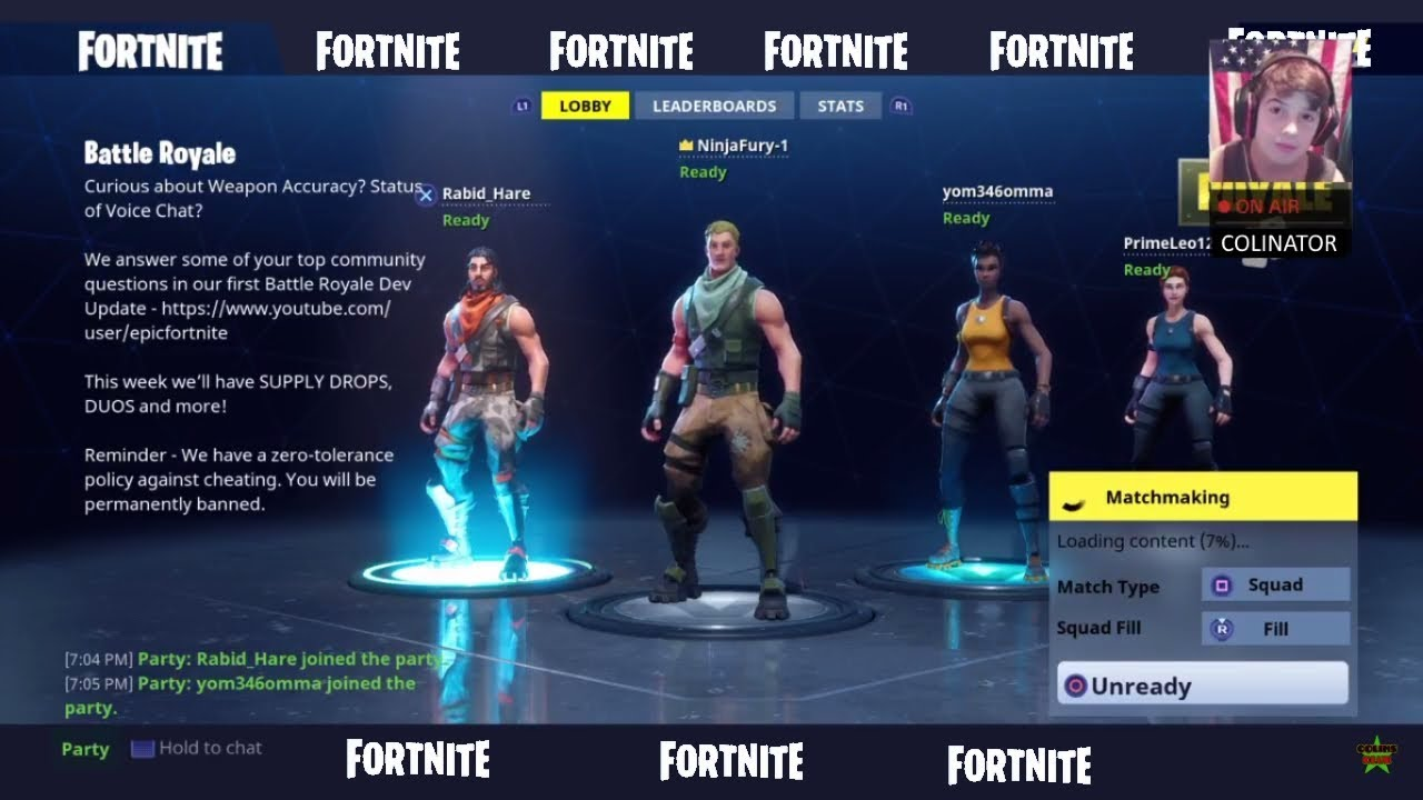 Matchmaking loading content fortnite