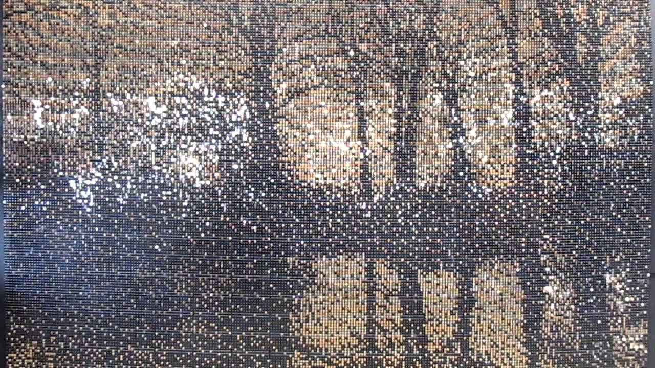 Richard Barlow Forest Scene Solaray Mosaic Sequin Wall Art