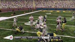 NCAA Football 11 - Ohio State vs Michigan CPU vs CPU Sim: Part 1