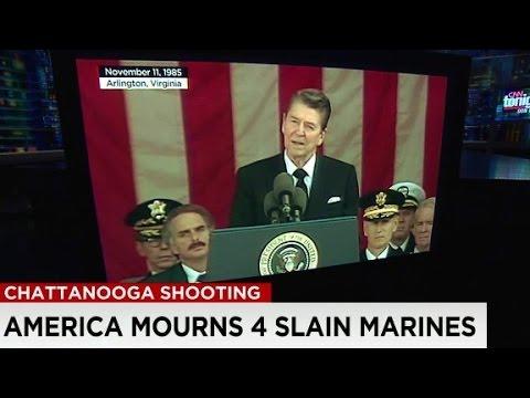 Reagans Iconic Words Help Memorialize Slain Marines Youtube