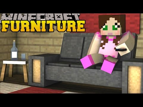 Minecraft: FURNITURE CHALLENGE (WHO WILL DECORATE THE ROOM BEST?) Mod Showcase