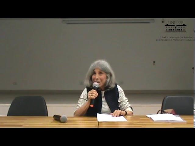 """Conferência Prof. Olgária Matos: """"Do sagrado à história: tradução e iluminação profana"""""""