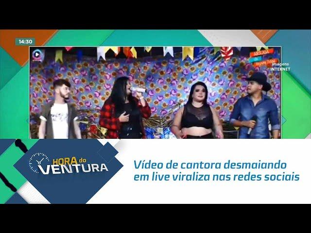 Vídeo de cantora desmaiando em live viraliza nas redes sociais