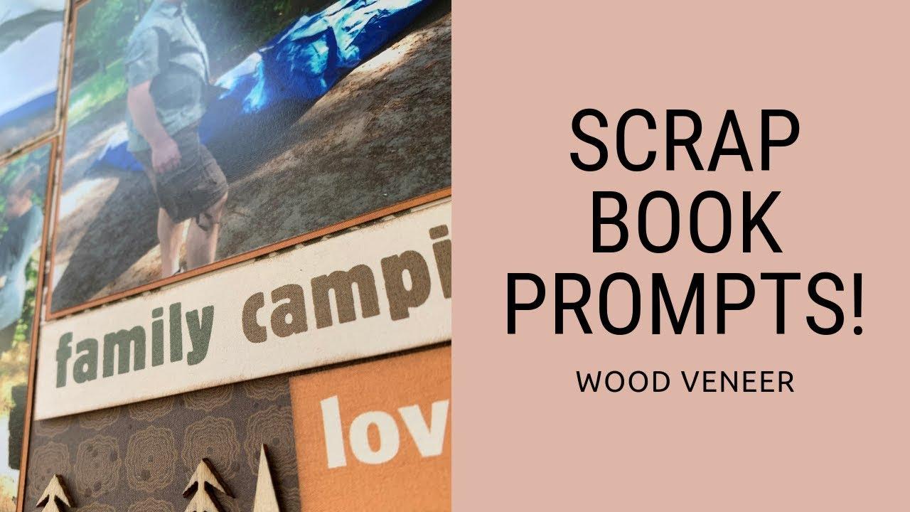 Scrapbook Prompt Wood Veneer