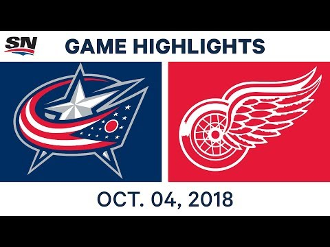 NHL Highlights | Blue Jackets vs. Red Wings - Oct. 4, 2018