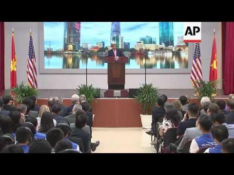 Kerry's policy speech at Ho Chi Minh University