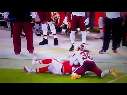 DJ Swearinger HUGE Tackle on Alex Smith after 31 Yard Run - MNF Chiefs v Redskins