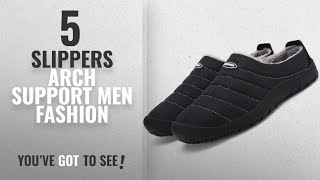 Top 10 Slippers Arch Support [Men Fashion Winter 2018 ]: Women Men Indoor Outdoor Slippers Fur Lined