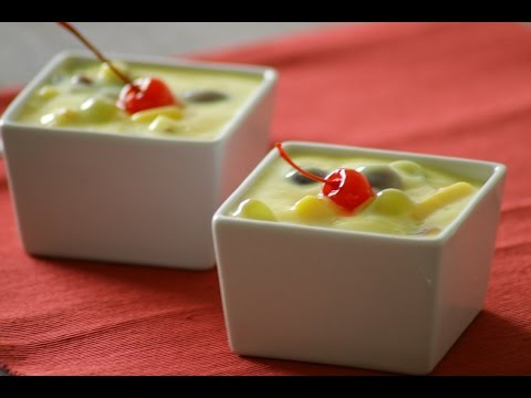 Fruit Custard Recipe in HINDI (Indian Recipe) Fruit custard in simple and easy steps