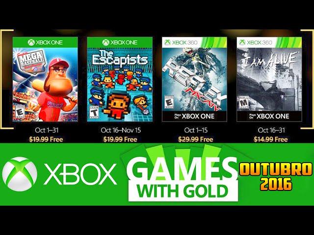 Jogos GrÁtis Xbox Live Gold De Outubro 2016 (xbox 360 / Xbox One)