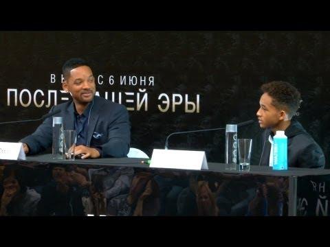 Уилл и Джейден Смит представили в Москве фильм После нашей эры