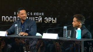Уилл и Джейден Смит представили в Москве фильм