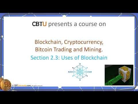 2.3 Uses of blockchain