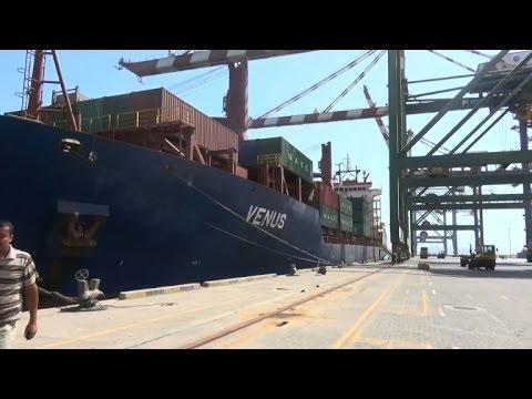 First commercial ship since March docks in Yemen's Aden