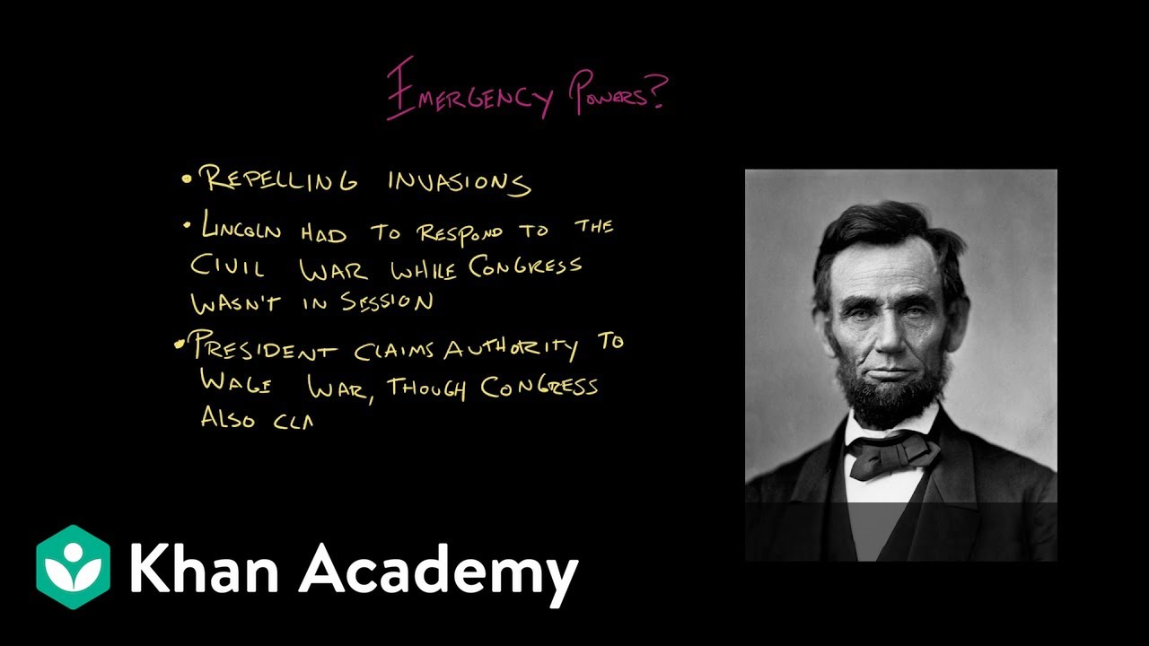 Article Ii Of The Constitution Video Khan Academy